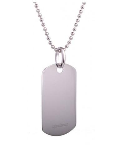 Collana In Acciaio Uomo Donna Targa Targhetta Militare Incisione Personalizzata